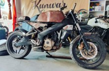 Bajaj-Pulsar-based-Cafe-Racer-by-Kunwar-Customs