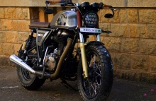 Modified Royal Enfield Continental GT by Bulleteer Customs