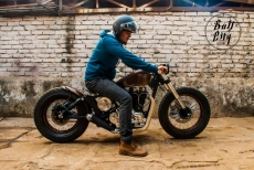 Modified Royal Enfield Electra Bobber by Bull City Customs