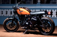 CHIEF - BRATROD series -Royal Enfield Cafe Racer Modified BulleteerCustoms Bangalore