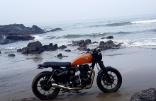 Modified Royal Enfield Cafe Racer BulleteerCustoms Bangalore