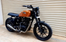 Modified Royal Enfield Cafe Racer in Bangalore