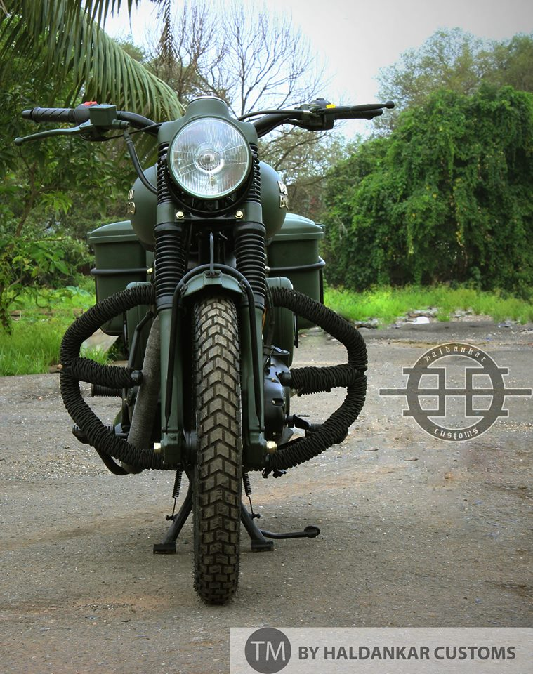Encode ~ Beautifully painted Military Green Royal Enfield