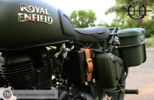 Encode Olive Green Military color Royal Enfield Classic 350cc Paint Haldarkar Customs