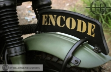 Military Olive Green painting Royal Enfield Classic Haldarkar Customs