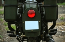 Modified Royal Enfield Bullet in Military Green Paint Haldarkar Customs