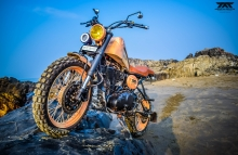 Modified Royal Enfield 500cc Scrambler by Maratha Motorcycles