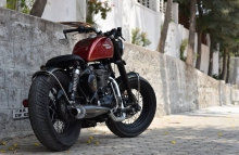 Modified Thunderbird 350 Vintage Bobber by Bulleteer Customs