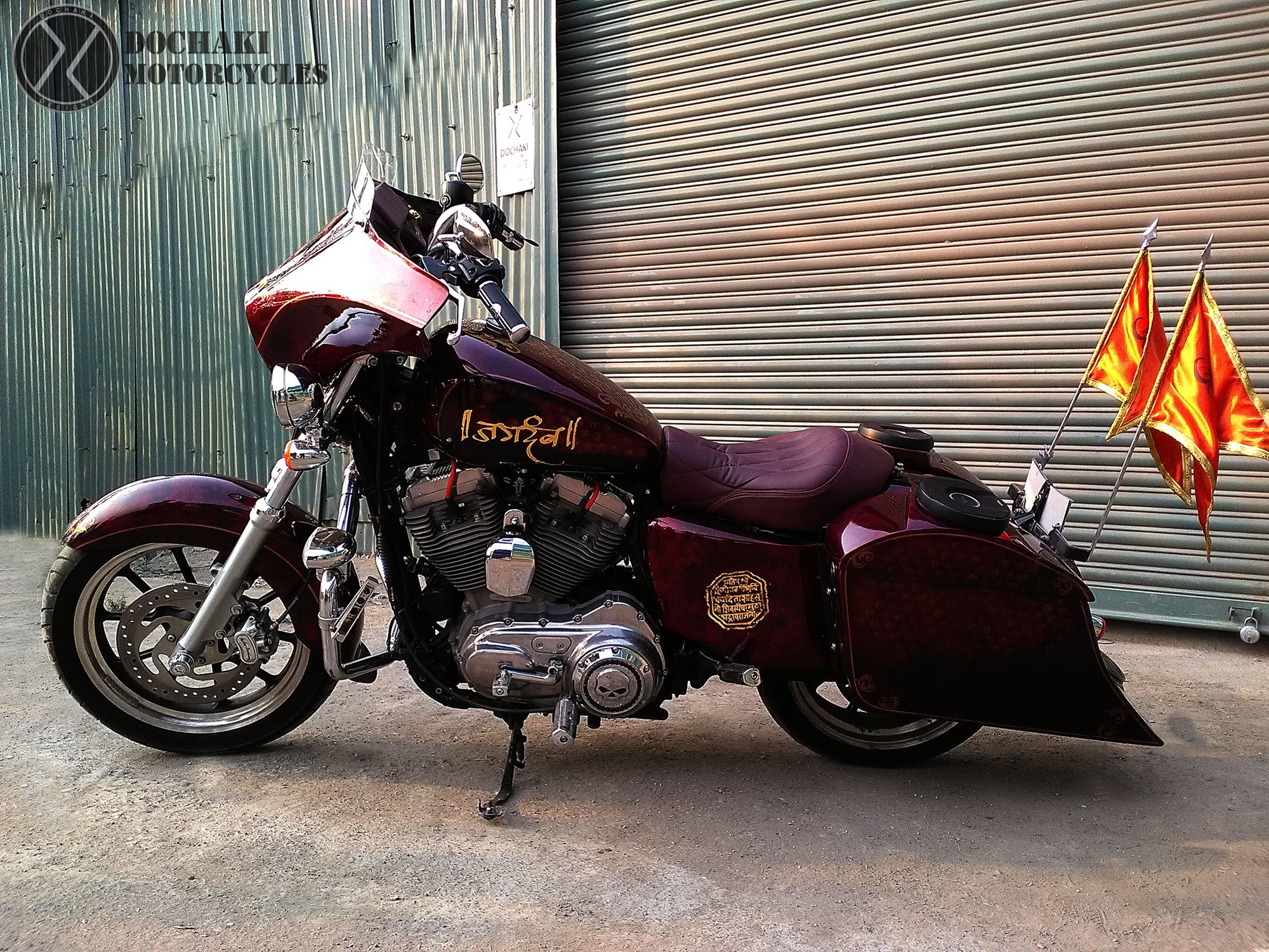 Custom Bagger Motorcycle in India Modified Harley Davidson Superlow Dochaki Design