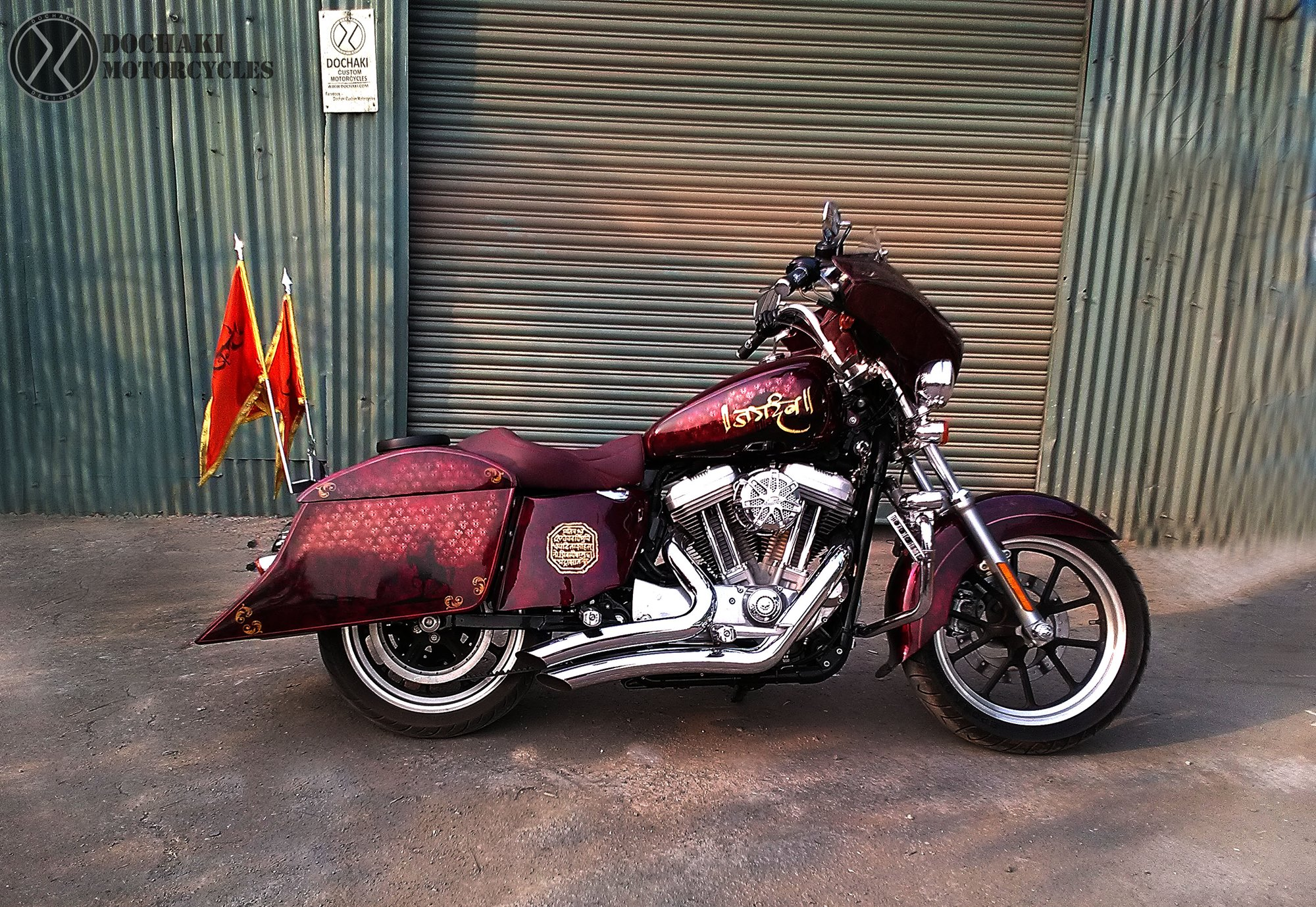 Jagdamb - Indian Bagger Modified Harley Davidson Superlow