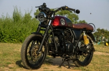1 Paint Color Royal Enfield Continental GT Cafe Racer by Eimor Customs