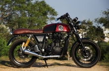 Modified Royal Enfield Continental GT Cafe Racer by Eimor Customs