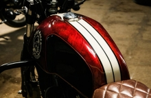 Modified Royal Enfield Continental GT Painting Cafe Racer by Eimor Customs