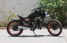 Modified LML CRD 100cc Bobber by Two Brothers Customs Baroda Gujrat
