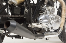 Modified Royal Enfield Continental GT Cafe Racer Exhaust loud KR Customs