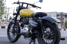 Yellow Royal Enfield Classic by ParPin's Garage