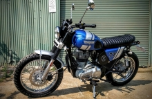 Modified Royal Enfield Scrambler Classic 350 Dochaki Pune