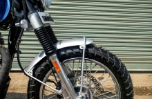 Modified Royal Enfield Scrambler paint Classic 350 Dochaki Design Front Fender