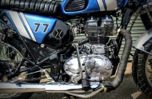Modified Scrambler on Royal Enfield Classic 350