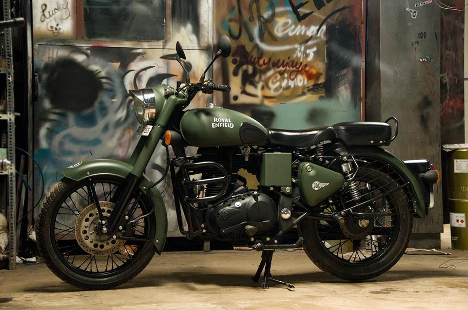 Military Green Royal Enfield Classic Paint By Eimor