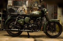 Army Green Royal Enfield Classic paint by Eimor Customs
