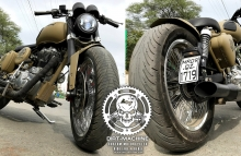 Royal Enfield SoftTail Bobber Modification
