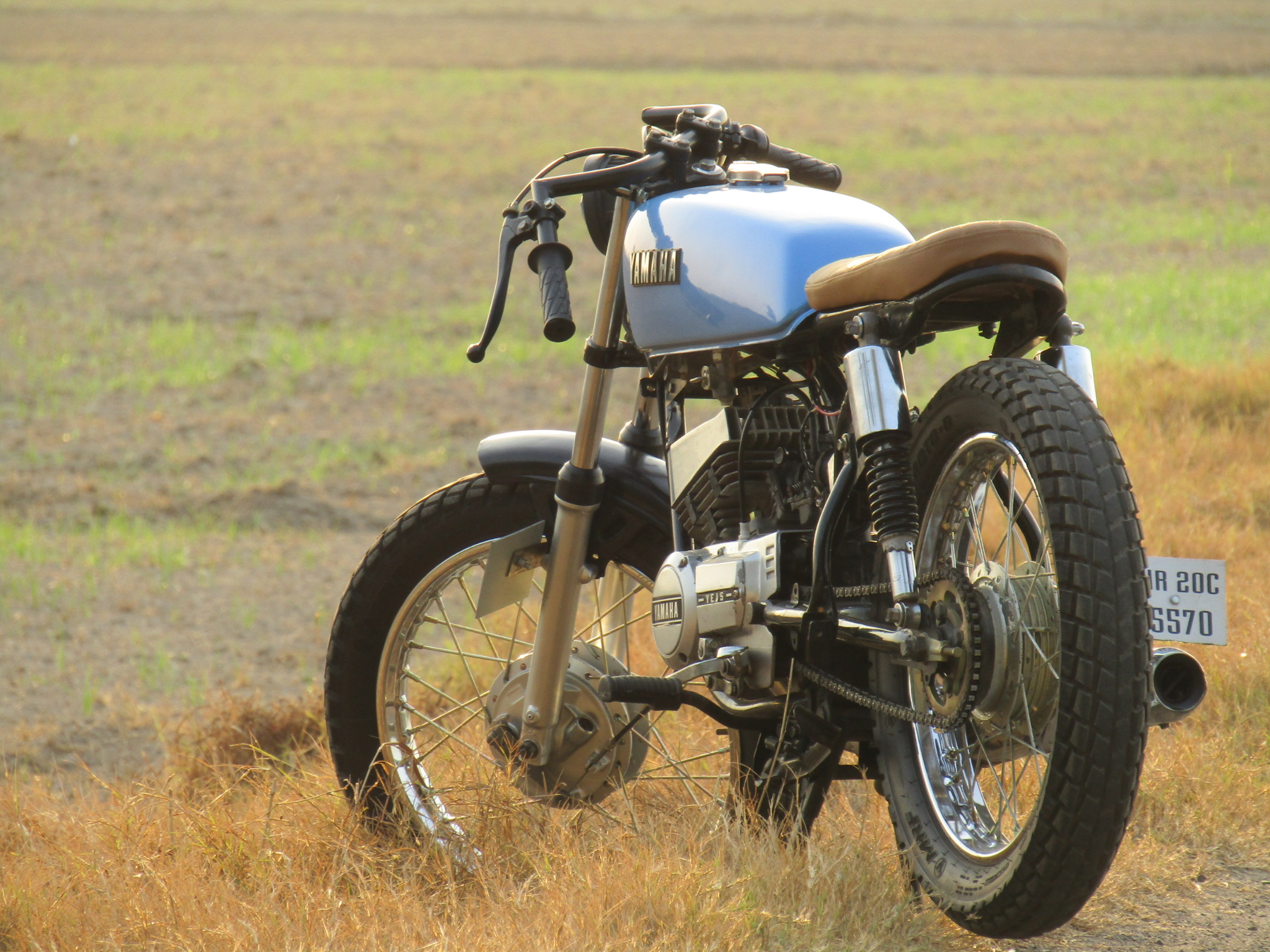 Modified Yamaha RX 100 Cafe Racer