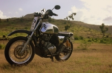 Mother of All Bomb Nomad Motorcycle Royal Enfield GT Scrambler