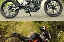 Nomad Motorcycle Custom KTM 390