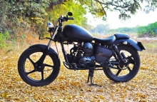 Matte Black Royal Enfield Paint Shade