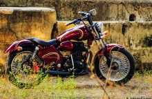 Modified Royal Enfield Gujrat Patil Motorcycle