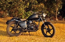 Royal Enfield Matte Black Paint Gujrat Patil Motorcycle PMS Motorcycle