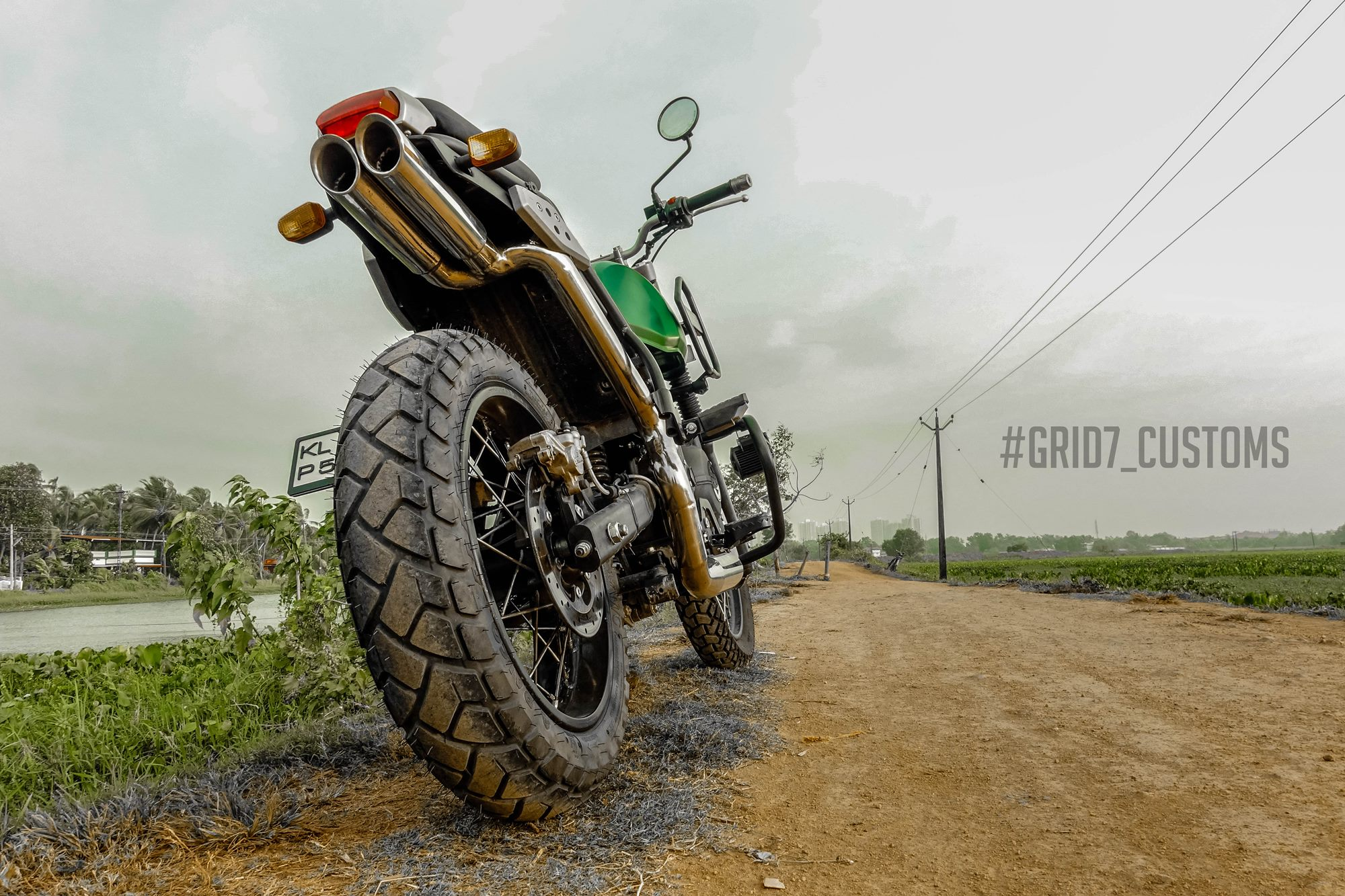 Modified Royal Enfield Himalayan Scrambler Off Roader by GRID7 Customs