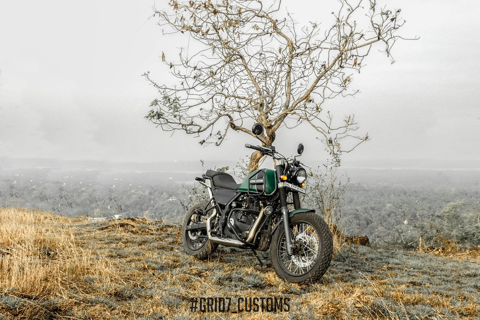 Modified Royal Enfield Himalayan Scrambler by GRID7 Customs