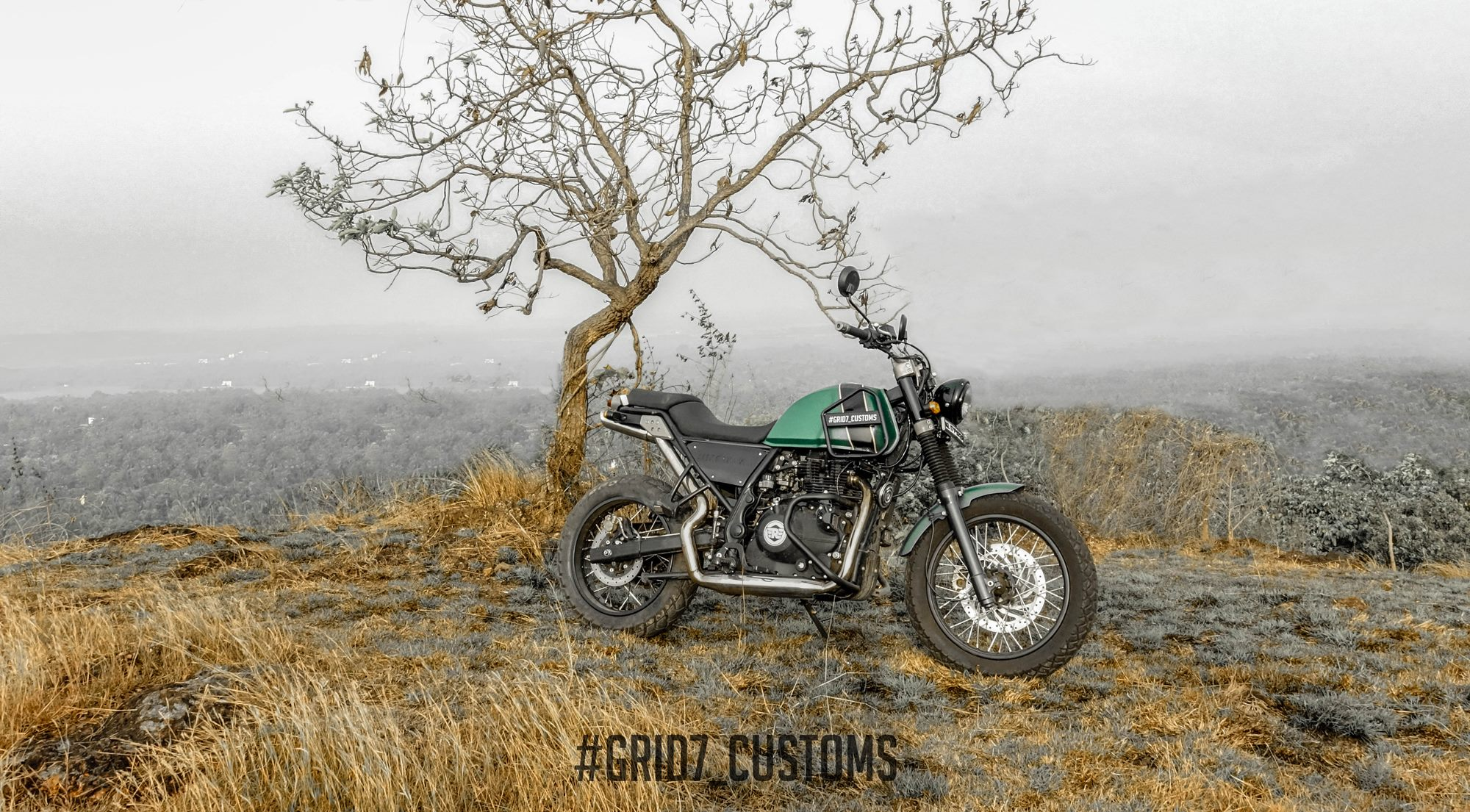 Royal Enfield Himalayan 411cc Modify by GRID7 Customs
