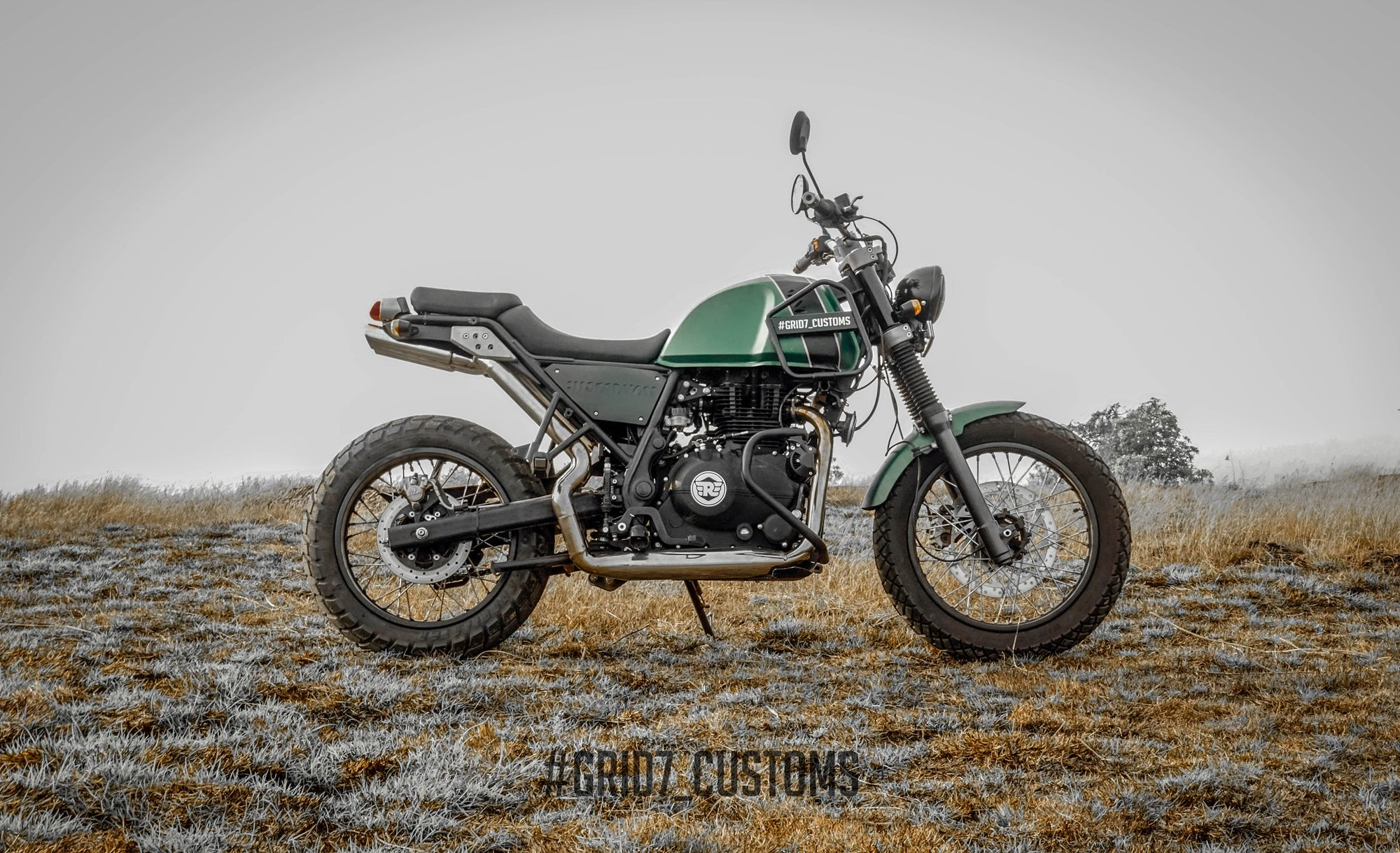 Royal Enfield Himalayan Performance upgrade by GRID7 Customs
