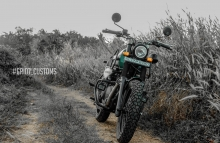 Modified Royal Enfield Himalayan Headlight Change by GRID7 Customs