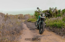 Restored Royal Enfield Himalayan by GRID7 Customs