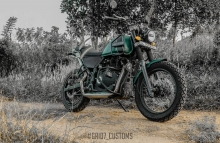 Royal Enfield Himalayan Modification by GRID7 Customs