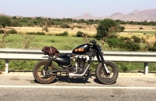 Modified Royal Enfield 350cc Bobber by 10 mile customs Jaipur