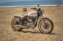 Classic Royal Enfield beach tracker by Inline3 Custom Motorcycles