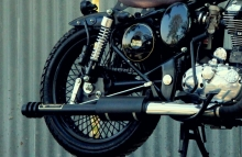 Royal Enfield Classic Bobber Barrel Performance Exhaust by Jedi Customs