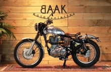 royal-enfield-trial-classic-scrambler by BAAK Motocyclette France