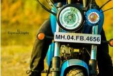 Dual Headlight Modified Royal Enfield Classic by Maratha Motorcycles