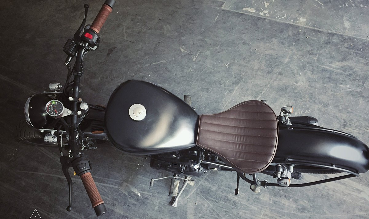 Custom Royal Enfield Modified Bobber Seat Featured Photo