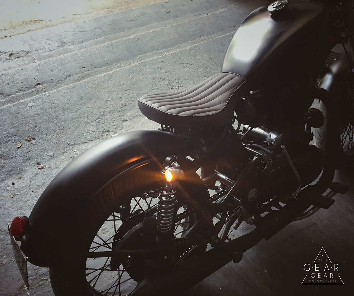 Simple and Clean Bobber on Classic 350 - Gear Gear Motorcycles