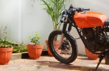 Bajaj Pulsar Cafe Racer Modification by Furious Customs Maharashtra