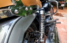 Modified Harley Davidson street 750 exhaust