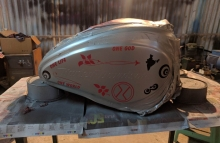 The one ~ Modified Harley Davidson street 750 Fuel Tank by Dochaki Designs