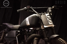 Modified Thunderbird 350cc Tracker motorcycle by MCBC Studio